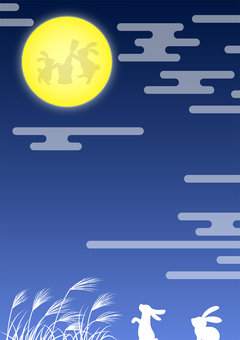 十五夜お月見背景