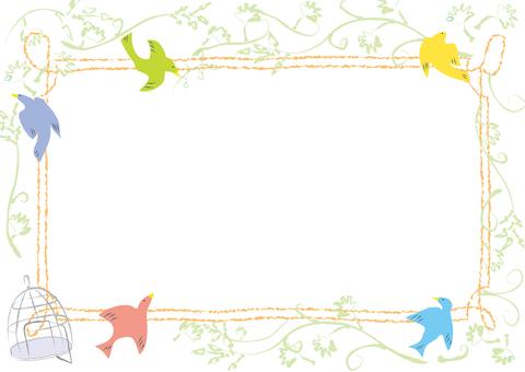Bird's frame (white back)