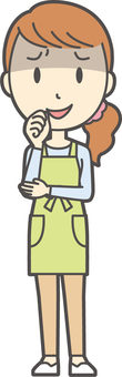 Apron youth long hair-141-whole body