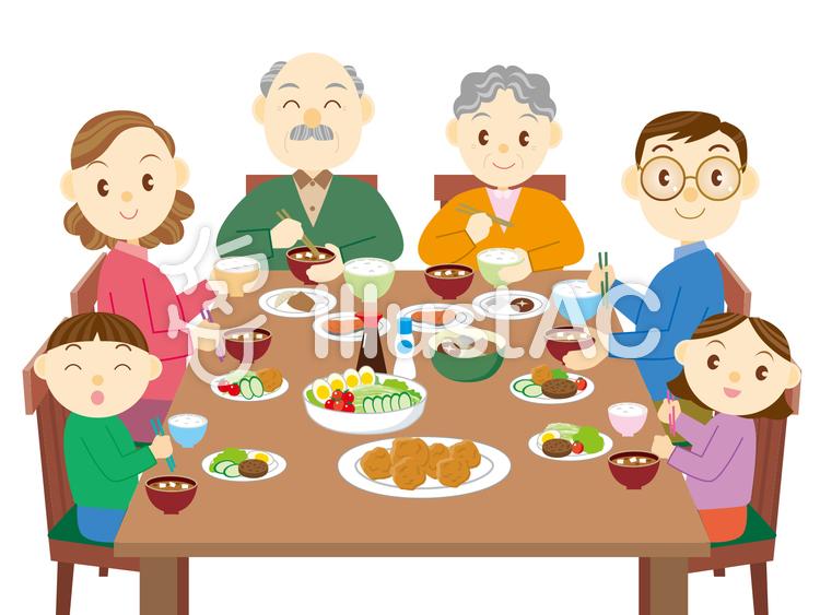 家族の食事イラスト No 373758無料イラストならイラストac