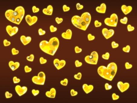 【Glitter】 Heart Chocolate Background 【Retro】