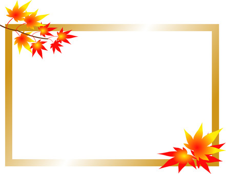 Autumnal leaf frame (gold)
