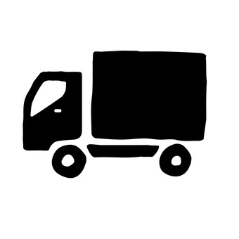 Truck hand writing icon