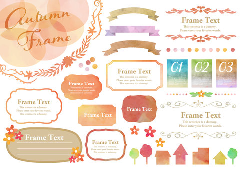 Water color material 028 Frame set