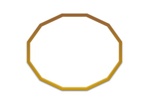 12-sided frame (brown, inside cut)