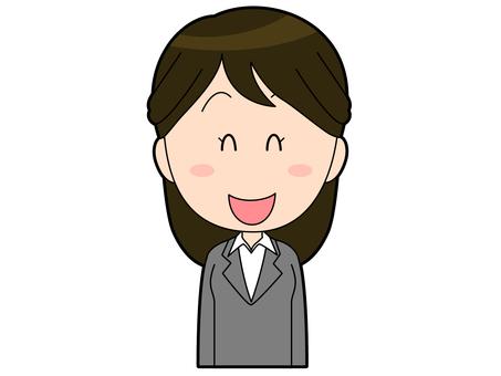 一套微笑的衣服的女性辦公室工作者_002