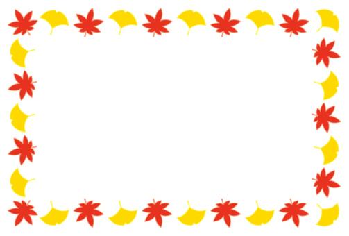 Frame _ autumn leaves