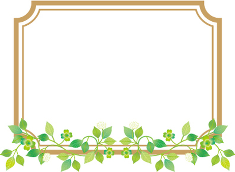 Plant decorative frame