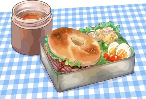 Bagel's lunch box
