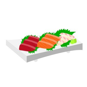 Assorted sashimi of three kinds