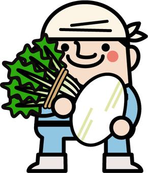 Uncle fairy Sakurajima Rzodkiewka rolnik