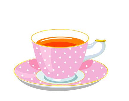 Tea cup dot pink