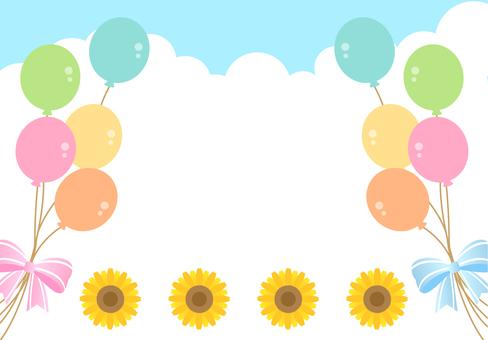 Sunflower balloon frame