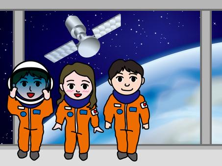 Spaceship (2) Earth view