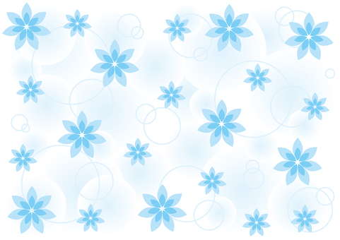 Wallpaper - Flowers and rings and light - Blue