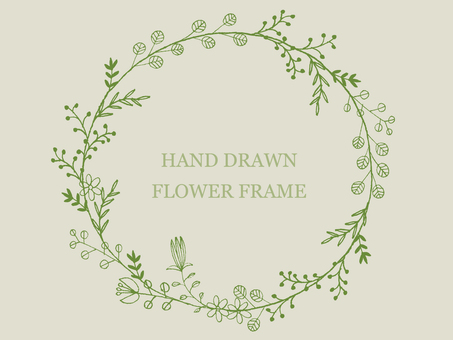 Handwritten flower frame 3