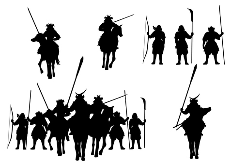 Cavalry warrior silhouette