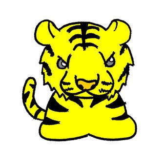 Dry branch, tiger