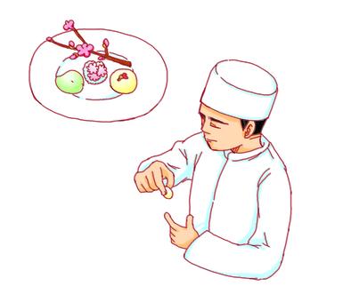 Japanese sweets craftsman
