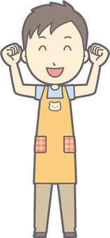 Nursery teacher man - exciting - whole body