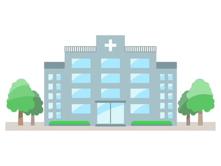 Hospital color illustration