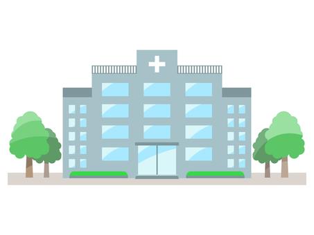 병원의 컬러 일러스트