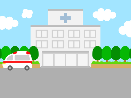 Simple background hospital