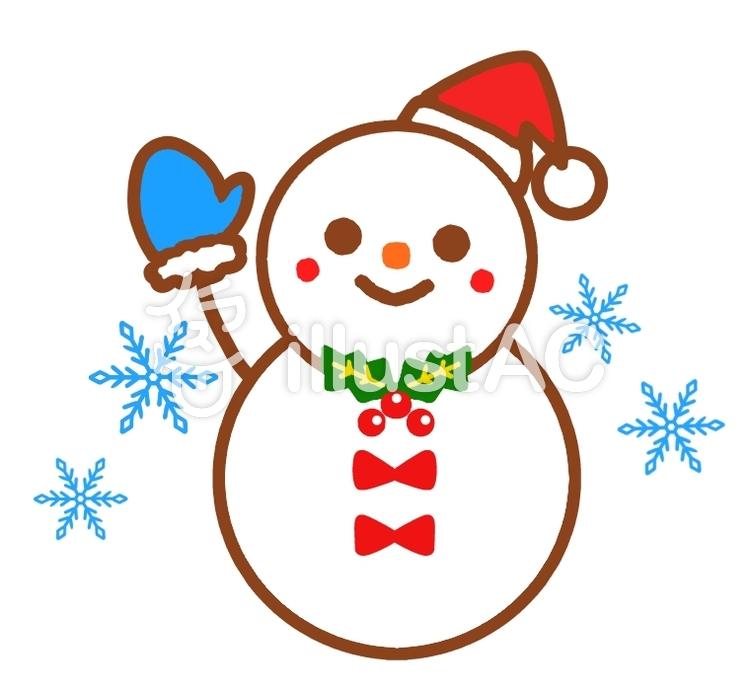 Freie Cliparts: Weihnachten Schneemann Schneekristalle Sankt Hallo ...