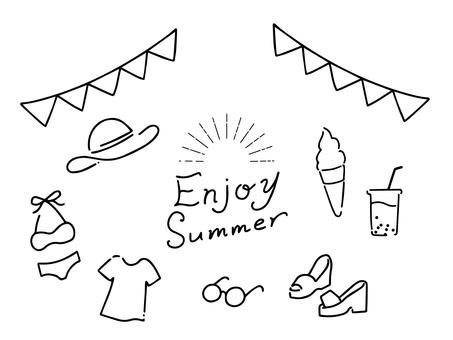 Hand-drawn style [summer illustration]