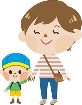 Parent - child's hand