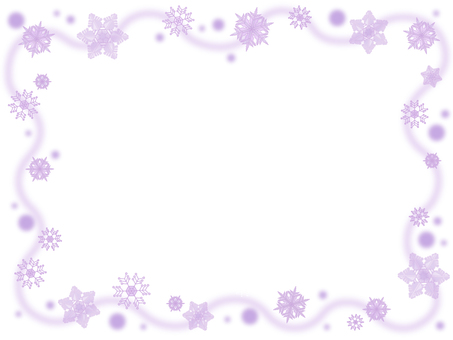 Snow crystal frame 3