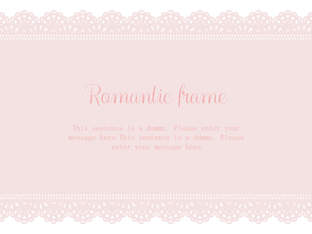 Lace frame / pink