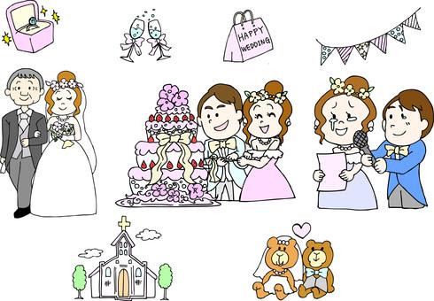 Wedding illustration set
