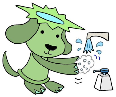 Dog character · Hand wash