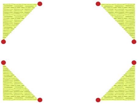 Pin cushion frame _ yellow