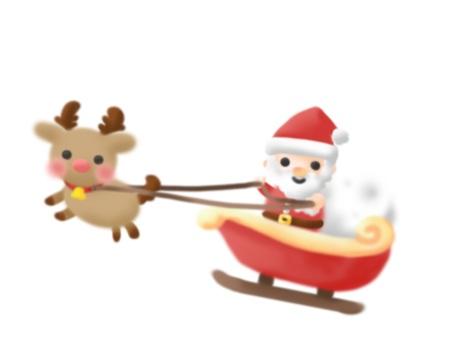 Sled Santa × Happy reindeer (single item)