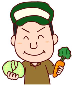Men's illustration of a greengrocer
