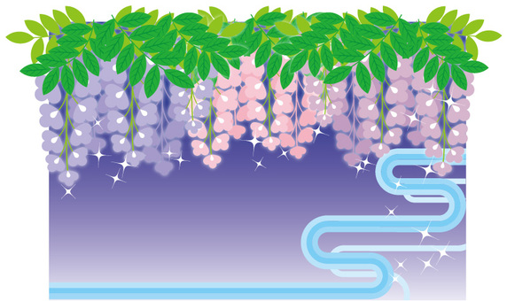 Wisteria Flower Frame 2