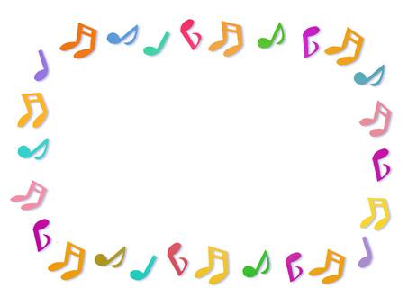 Music score frame