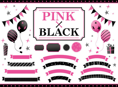 Material Black and Pink