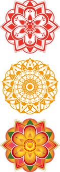 Mandala style flowers