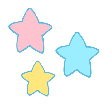 Pastel colored stars