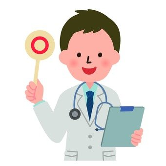 Medical - Male doctor (upper body) raising ○ 's bill