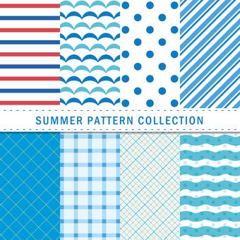 Summer pattern / seamless pattern / background