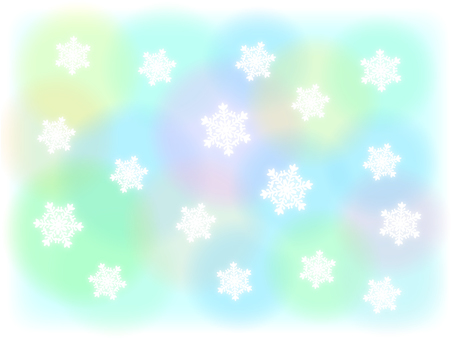 Pastel color background and snow crystal