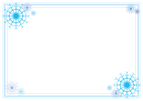 Snow crystal frame