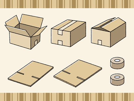 Cardboard illustration set <1>