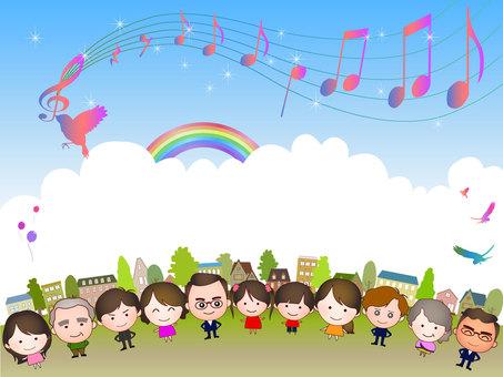 街並みと人々と音楽4