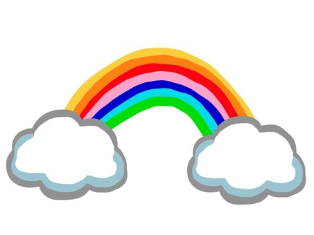 A rainbow coming out of a cloud 1