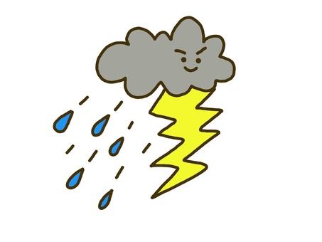 Thunder rain cloud Weather